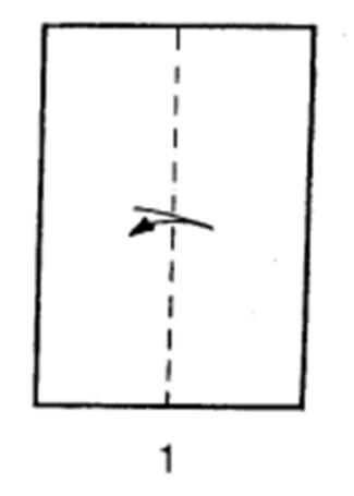 Как сделать планирующий истребитель из бумаги - шаг 1