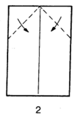 Как сделать планирующий истребитель из бумаги - шаг 2