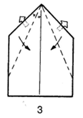 Как сделать планирующий истребитель из бумаги - шаг 3