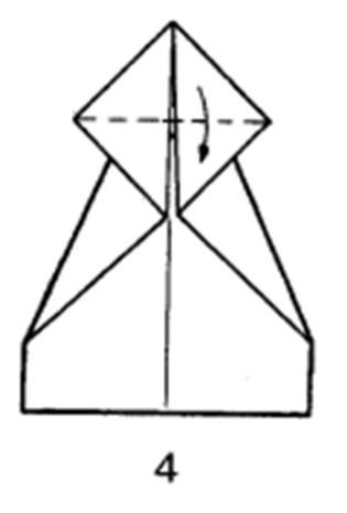 Как сделать планирующий истребитель из бумаги - шаг 4
