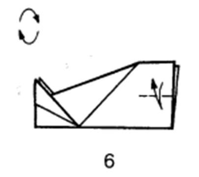 Как сделать планирующий истребитель из бумаги - шаг 6
