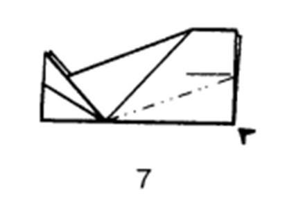 Как сделать планирующий истребитель из бумаги - шаг 7