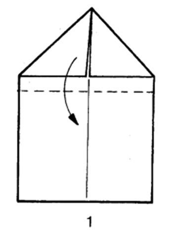 Как сделать самолет-дальнобойщик из бумаги - шаг 1