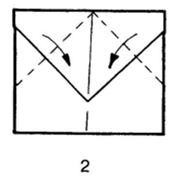 Как сделать самолет-дальнобойщик из бумаги - шаг 2