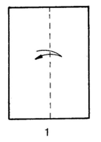 Как сделать скоростной самолет из бумаги - шаг 1