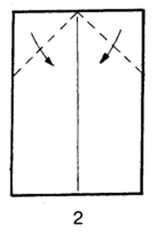 Как сделать скоростной самолет из бумаги - шаг 2