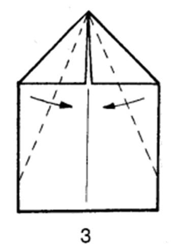 Как сделать скоростной самолет из бумаги - шаг 3