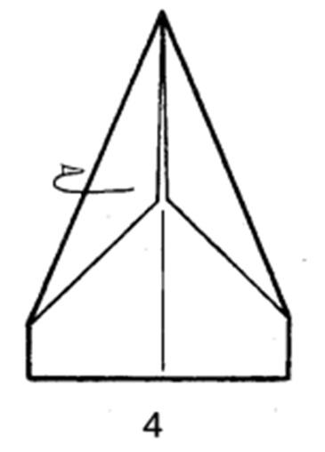 Как сделать скоростной самолет из бумаги - шаг 4