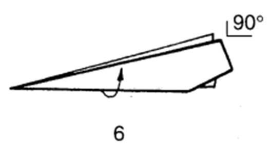 Как сделать скоростной самолет из бумаги - шаг 6