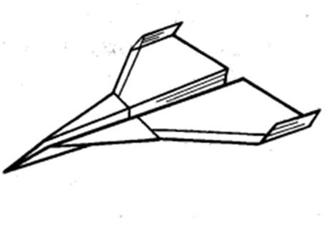 Остроносый истребитель из бумаги