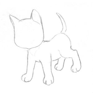 Рисуем кошку поэтапно 2