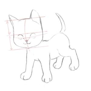 Рисуем кошку поэтапно 3