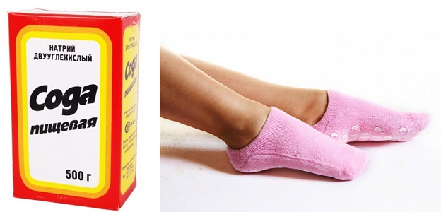 Содовый компресс от потливости ног