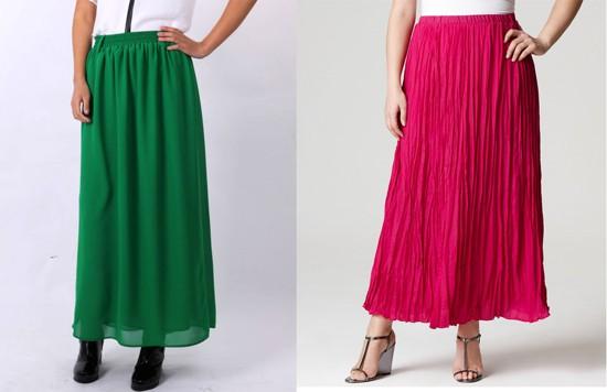 Как сшить длинную легкую юбку