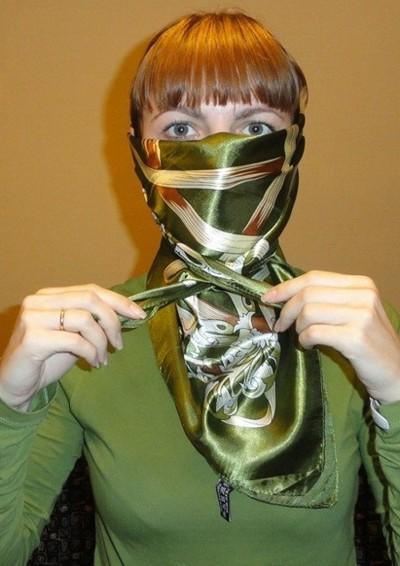 Завязываем платок узлом черепаха 2