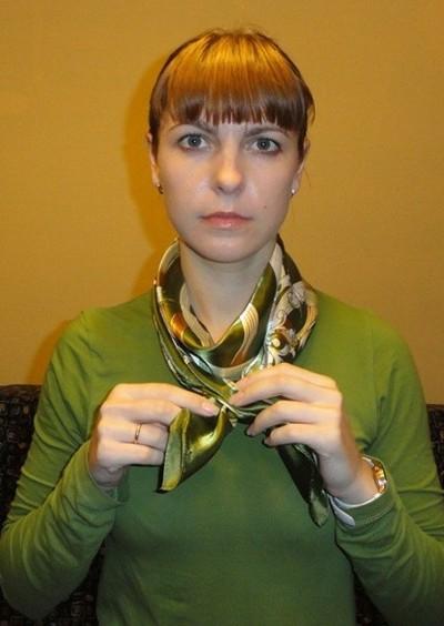 Завязываем платок узлом хомут 2