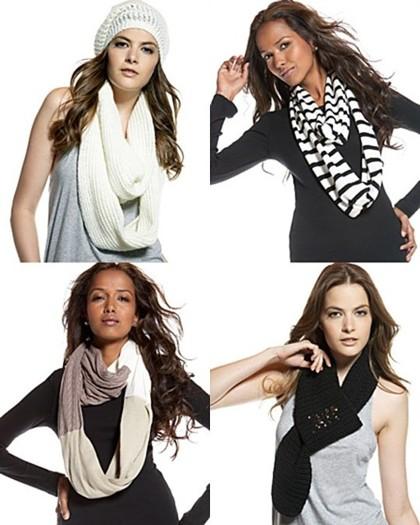 Завязываем зимний шарф ожерельем