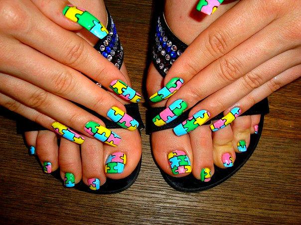 Ногти яркие дизайн