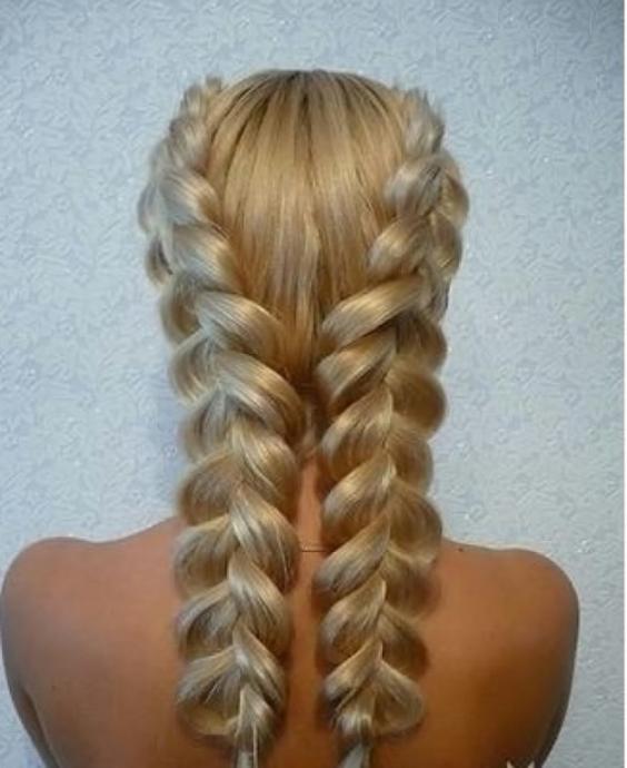 Плетение французское волос