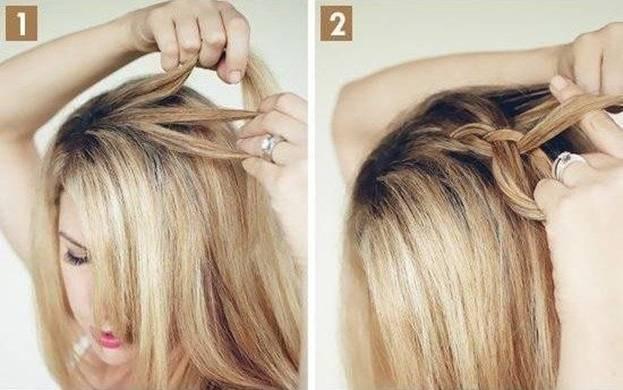 Французская коса с пучком 1,2