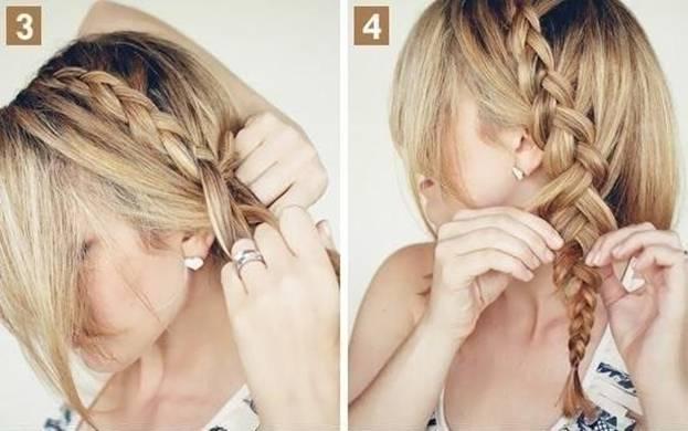 Французская коса с пучком 3,4