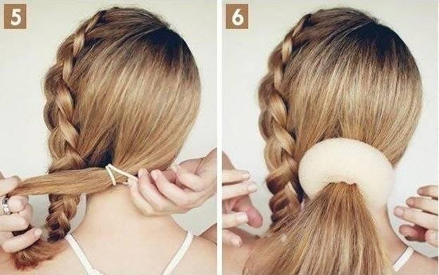 Французская коса с пучком 5,6