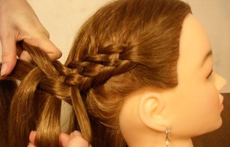 Плетение косы по диагонали 13.2