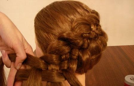 Плетение косы по диагонали 13.3.