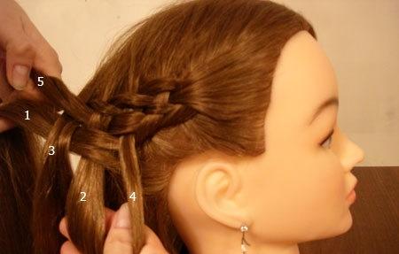 Плетение косы по диагонали 13