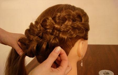 Плетение косы по диагонали 14