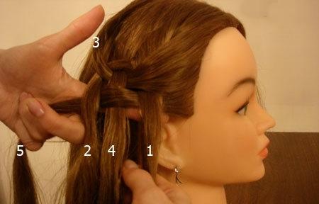 Плетение косы по диагонали 7