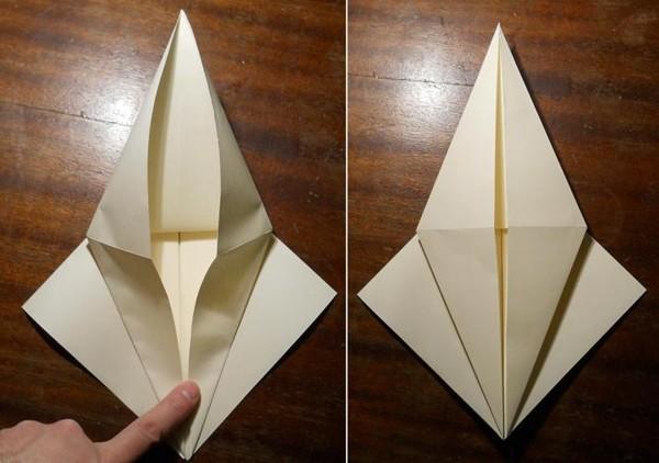 как сделать меч оригами2