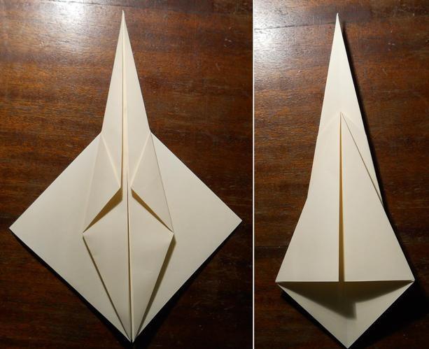 как сделать меч оригами3