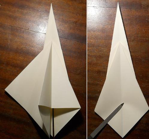 как сделать меч оригами4