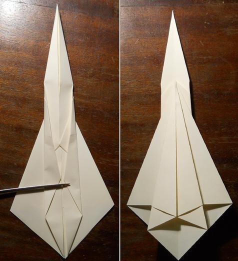 как сделать меч оригами5