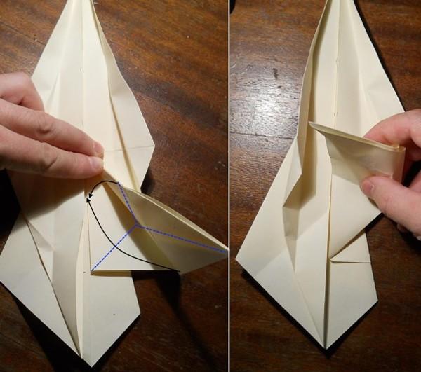 как сделать меч оригами6