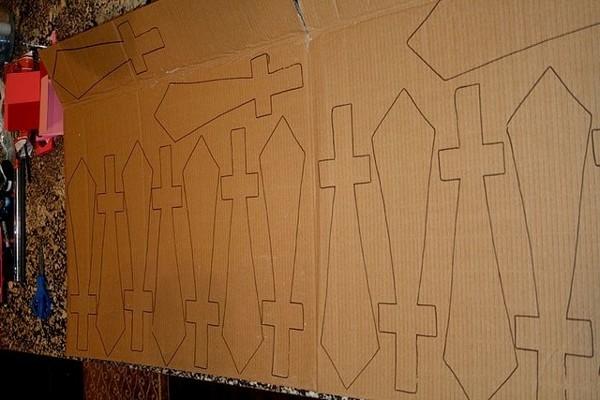 Как сделать щит из картона