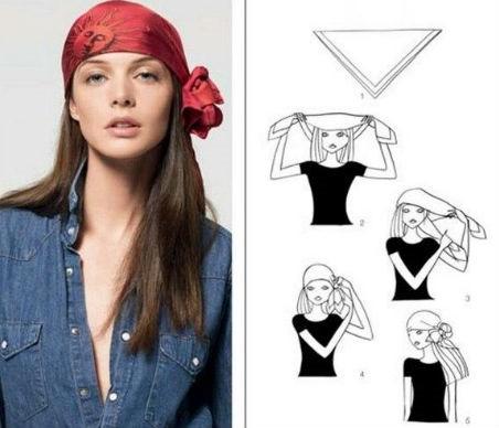 как можно повязать платок