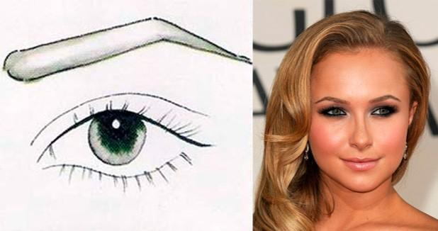 Как сделать брови выше глаза