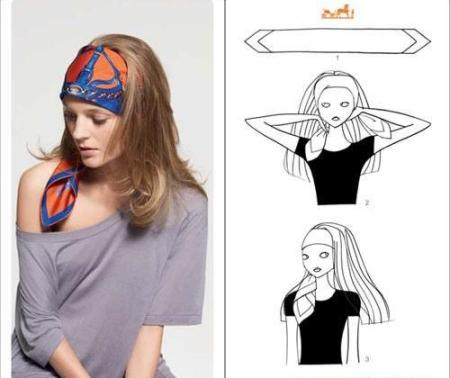 как завязать платок на
