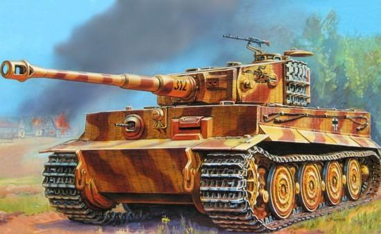 как нарисовать танк Тигр красками