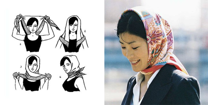 как повязать платок а-ля рус