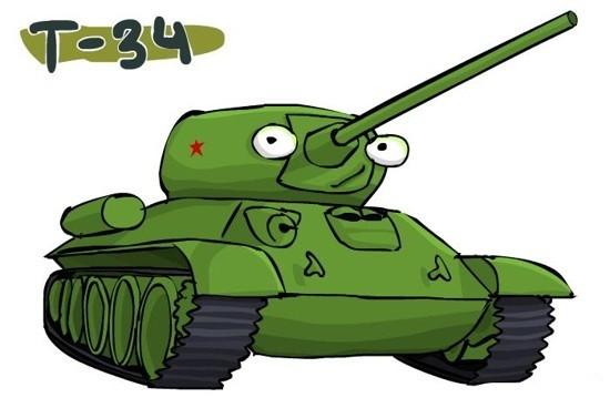 рисуем мультяшный танк красками